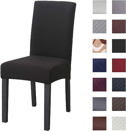 Padgene Addensare Coprisedia con Schienale 6 Pezzi, Fodere per sedie in Tessuto in Pile Polare, Coprisedie Lavabile Elastico della Sala da Pranzo per