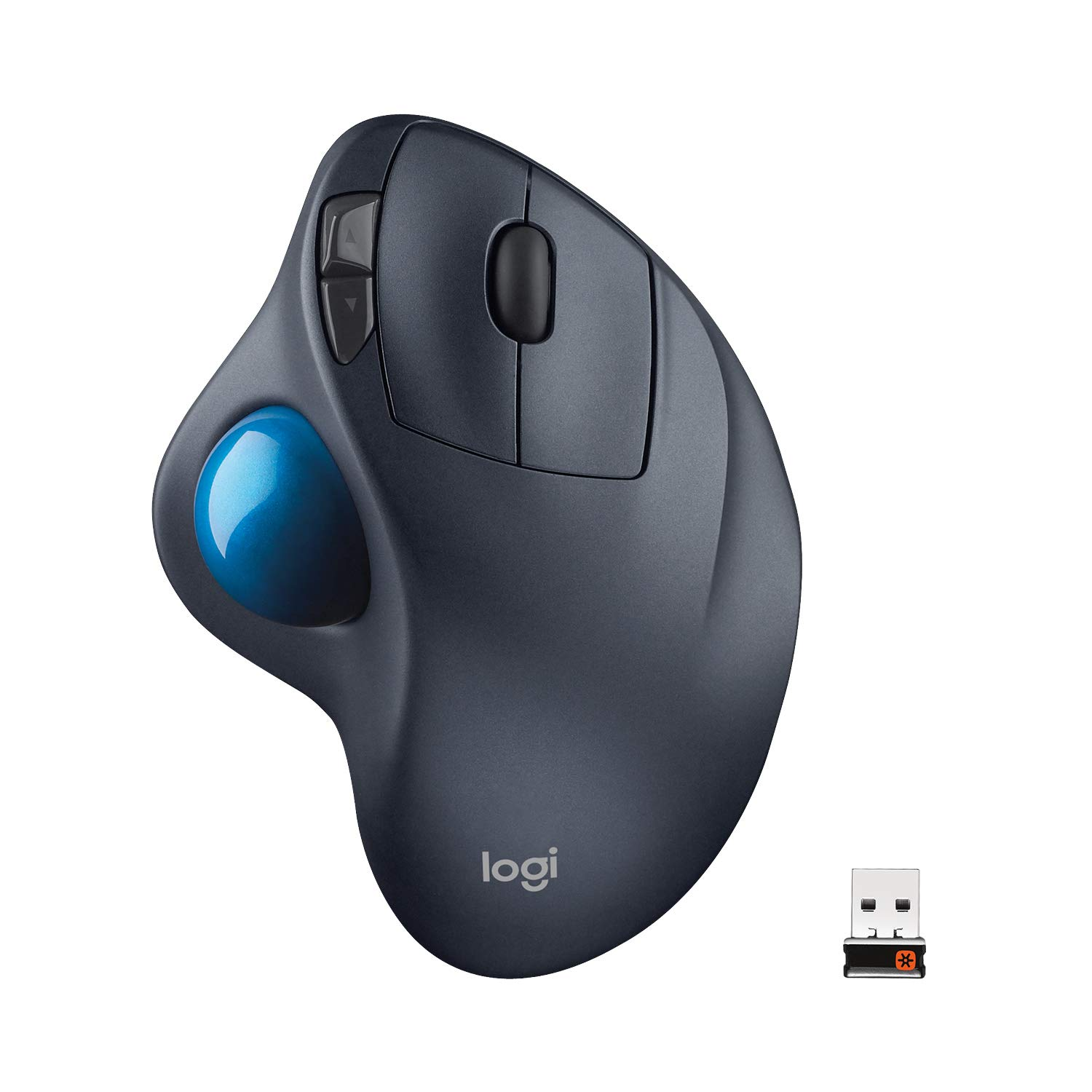 Logitech M570 Wireless Trackball Mouse – Ergonomic Design with Sculpted Right-Hand Shape