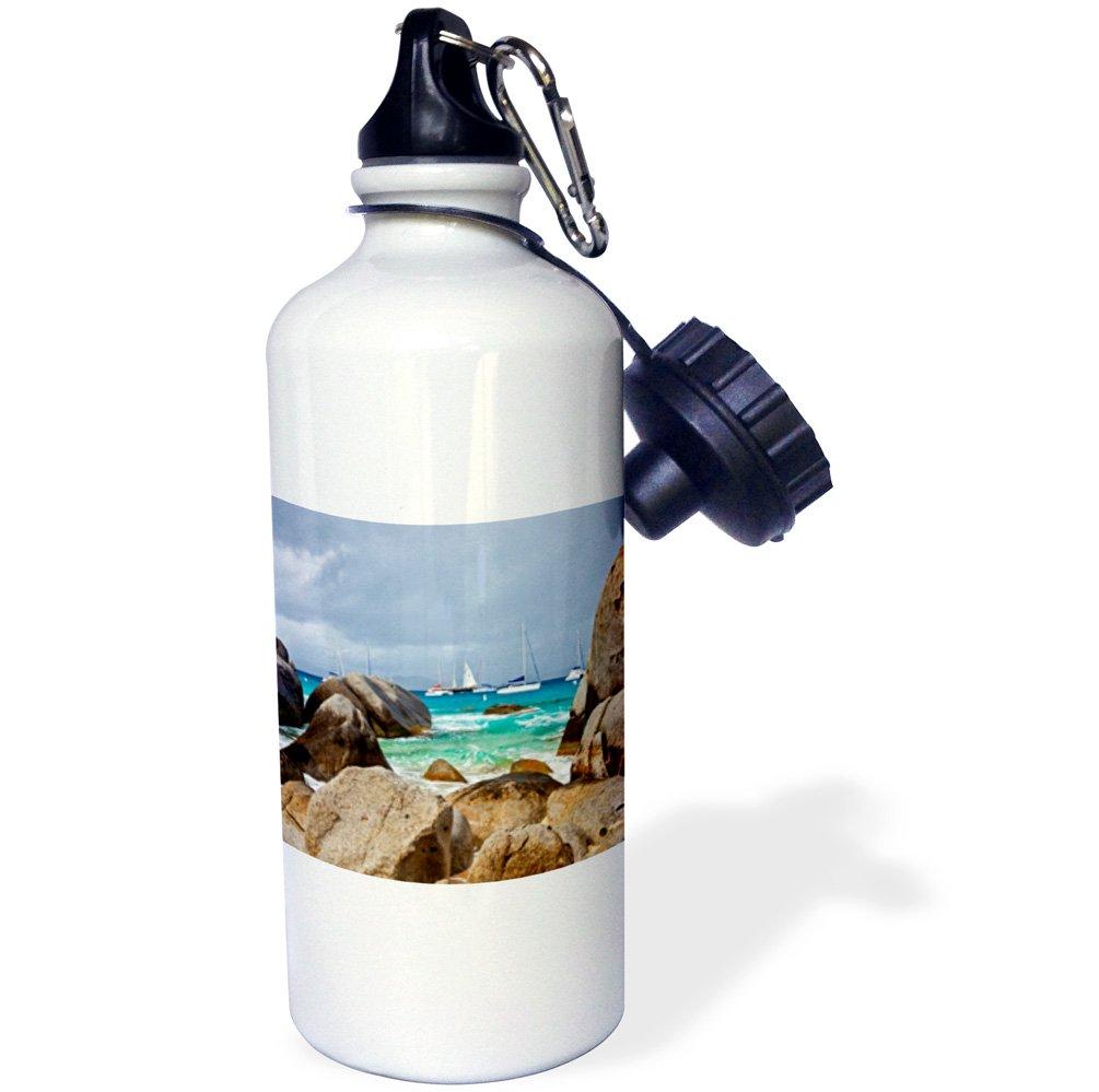 Multicolor 21oz -Sports Water Bottle wb/_188566/_1 21 oz 3dRose Baths Gorda in The British Virgin Islands