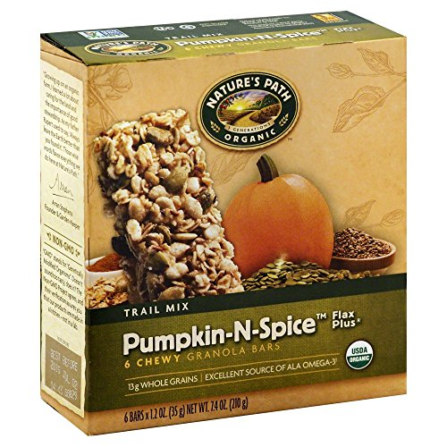 natures-path-organic-chewy-granola-bars-flax-plus-trail-mix-pumpkin-n-spice-6-bars-pack-of-2