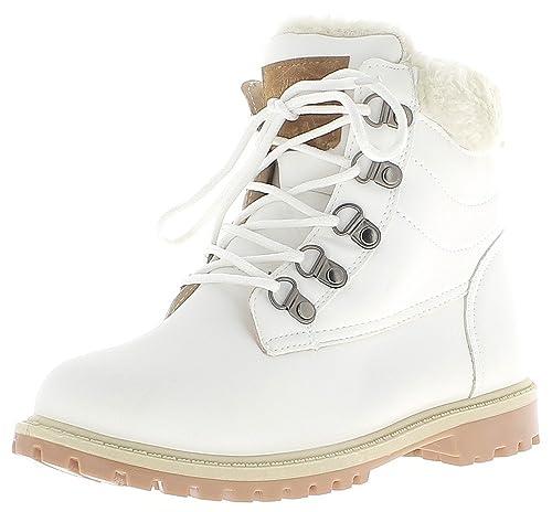 Sneakers beige con stringhe per donna Chaussmoi JVCx9Tl