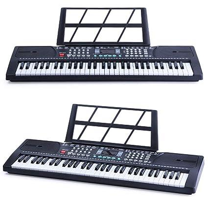 LIPENG-TOY Teclado multifunción 61 Teclas Principiante para niños Piano pequeño Música para Adultos Juguete