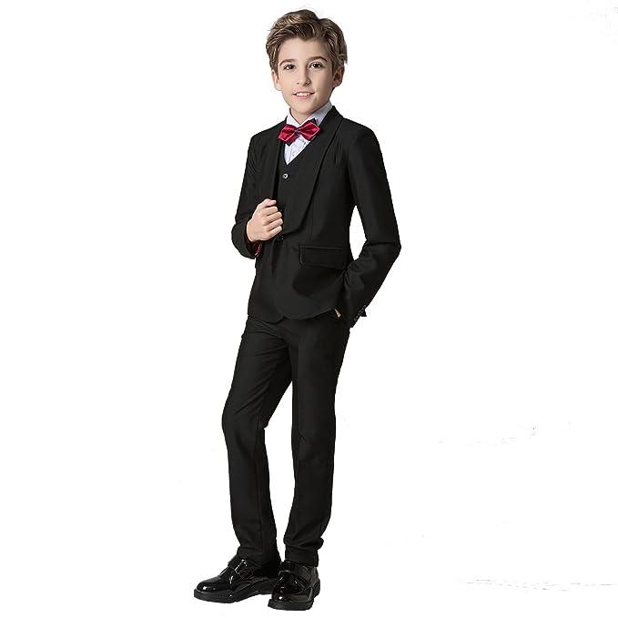 Amazon.com: Yuanlu chal solapa Boys esmoquin trajes con ...