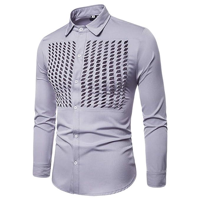 WanYangg Camisa Casuales Slim Fit Hombre 8d7b64ecfd06a