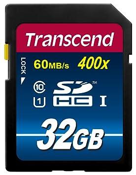 Tarjeta de Memoria Transcend TS32GUSDU1 SD 32GB Clase 10