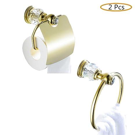 Accessori Bagno Ottone Oro.Casewind Ottone Accessori Bagno Set Pezzi In Oro Lucido