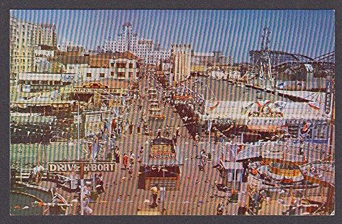Virginia Park Auto Skooter Long Beach Pike & Fun Area CA postcard - Pike Long Beach