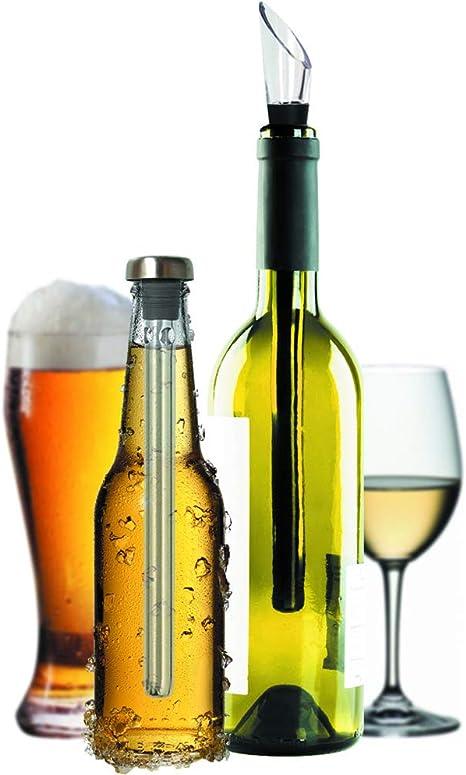 Compra Original Regalo Enfriador de Vino y Cerveza Set de 2 ...