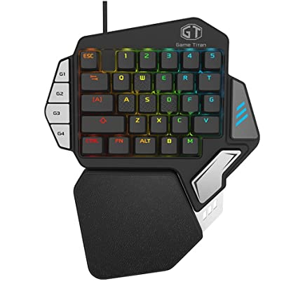 Aulidtech Delux T9X Mechanical Gaming Keyboard One Hand Game Keypad Single Hand Game Keyboard RGB LED