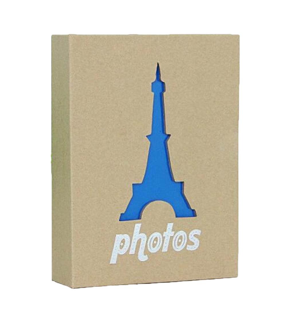 WEI LONG Photo Album Hold 100 Pockets, 4''x 6'' Photos, (Eiffel Tower) by Wei Long