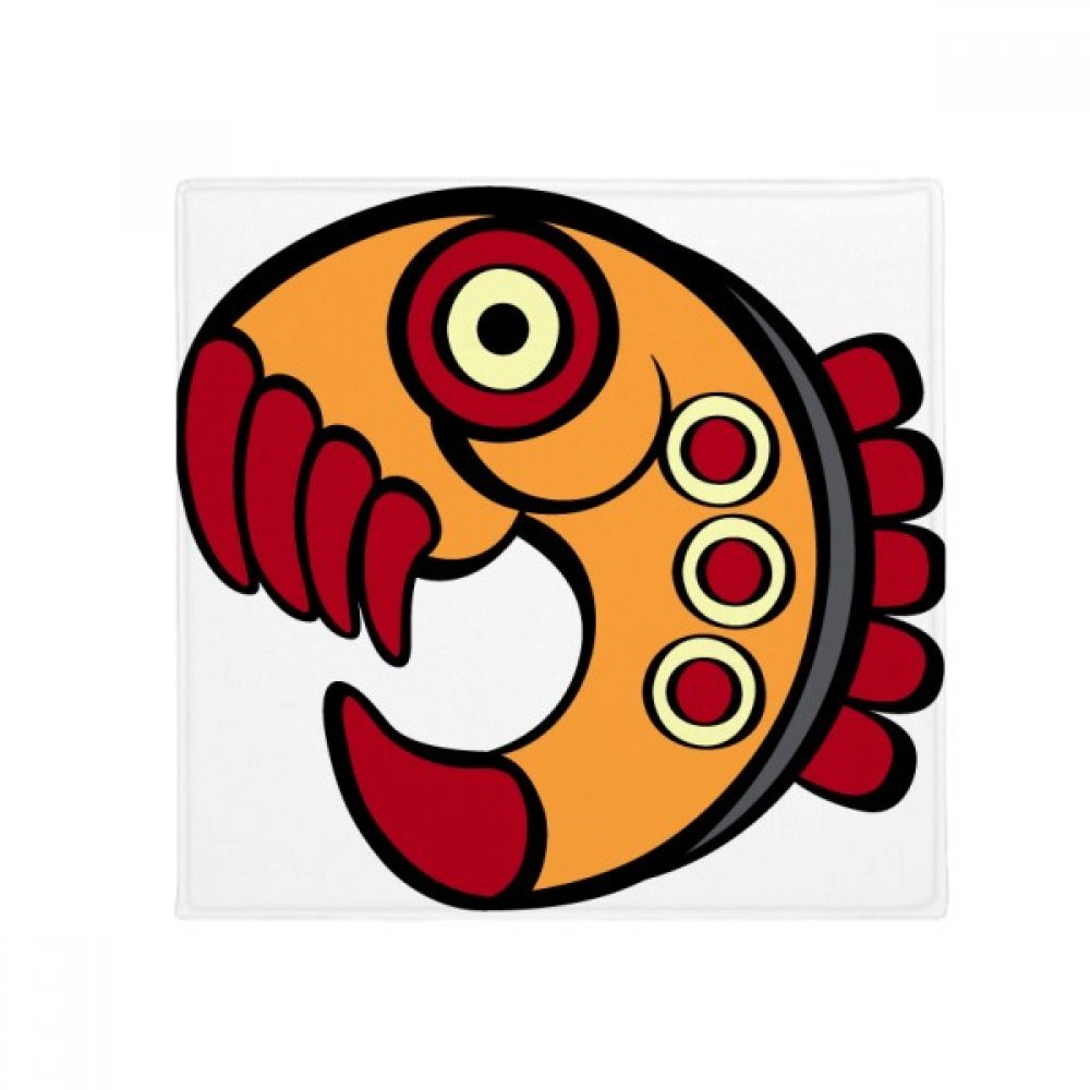 DIYthinker Indian Abstract Art Drawing Piranha Amazon Anti-Slip Floor Pet Mat Square Home Kitchen Door 80Cm Gift