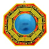 RATNATRAYA - THE HOME OF FAITH Ratnatraya Feng Shui Convex Bagua Mirror Wall/Door Hanging For Remove Negative Energy and Protection For Home, Business, Shop