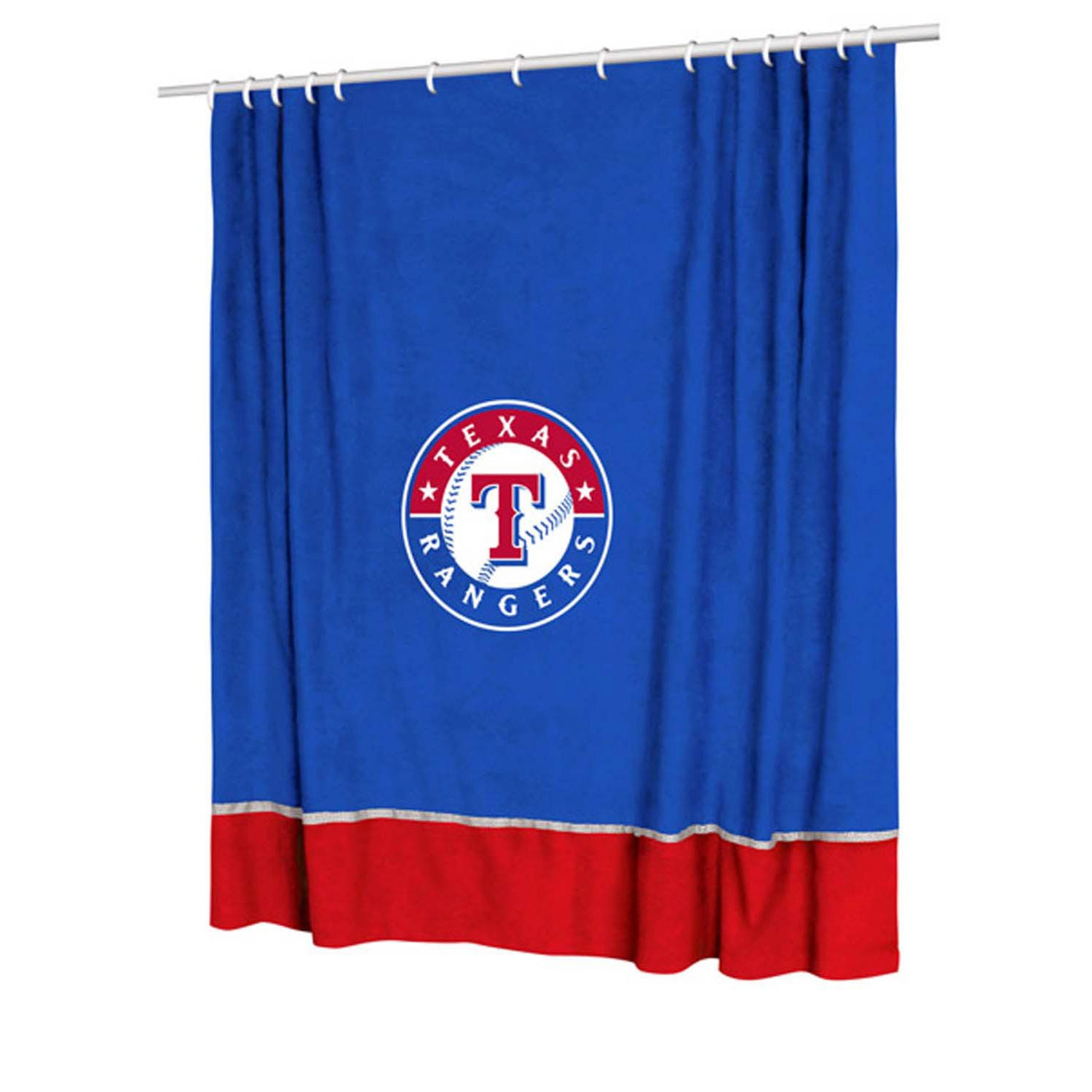 Amazon MLB Texas Rangers MVP Shower Curtain Sports Fan Curtains Outdoors