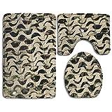 ohio state ticket frame - Unisex Camouflage Cool Three-piece Bathroom Anti-slip Door Mat