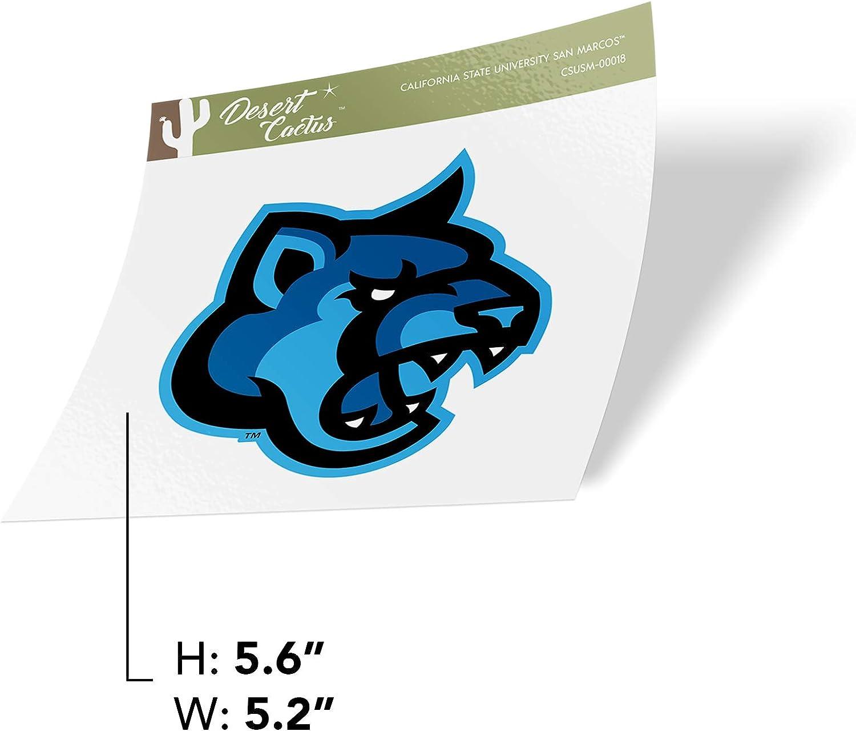 Sticker - 00018 California Cal State University San Marcos CSUSM Cougars NCAA Vinyl Decal Laptop Water Bottle Car Scrapbook