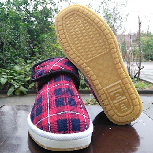 à boeuf en avec d'hiver bas chaudes 38 velours Chaussons main les chaussures plus sac femmes âgées hommes personnes Coton Accueil et maman anti chaussures coton tendon de en glissement du e chiffon PqSz55w