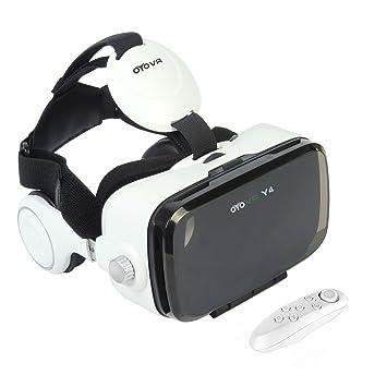 Uvistar Gafas VR 3D con Remoto Controlador Auriculares VR 3D Realidad virtual Caja con Ajustable Lente
