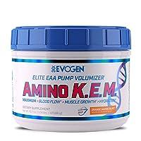 Evogen AminoKEM | Premium Essential Amino Acid, Nitric Oxide, Betaine anhydrous, S7, Recovery, volumizing, Pump Catalyst | Orange Mango