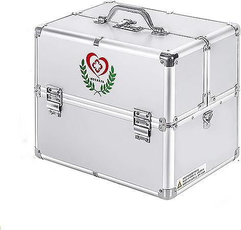 KKYY Caja De Cerradura Con Llave Caja De Medicina Caja De Primeros Auxilios PortáTil, Caja De Almacenamiento De Medicina De Metal, Caja De Almacenamiento De Llave Con Fuerte CombinacióN De 3 DíGitos: