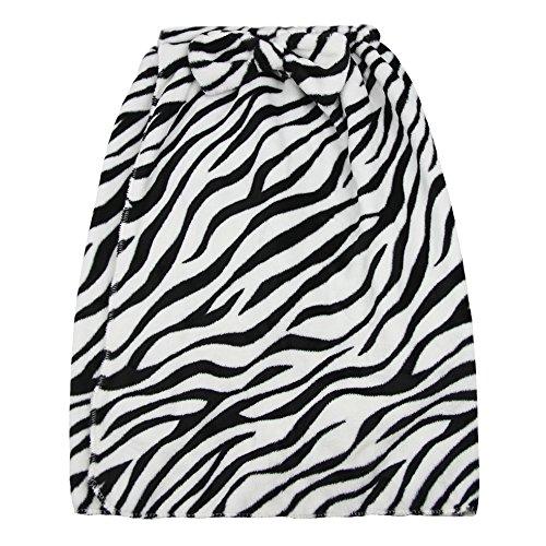 Kids Girls Bath Wrap Towels with Makeup Headband, Soft Warm Flannel Fleece Terry Bowknot Elastic Spa Beach Pool Shower Bath Robe Towel Wrap Cover Up Bathing Tube Top Dress Bathrobe Gown Sleepwear by Fakeface (Image #3)