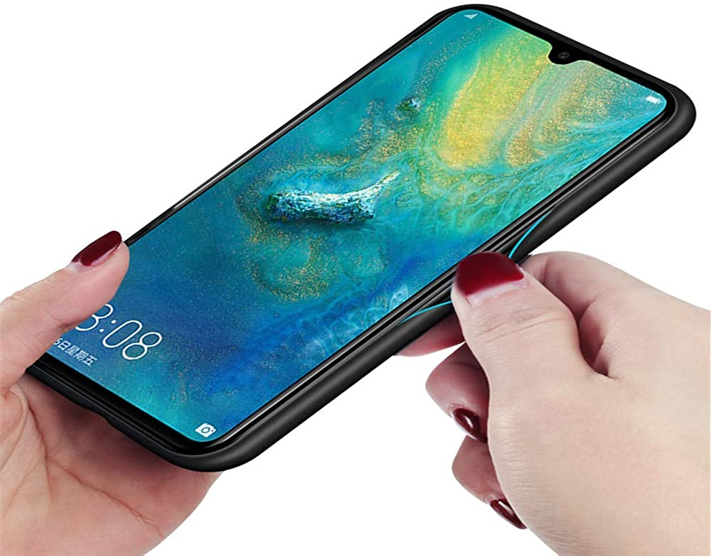 kkkie Kompatibel mit Huawei Mate 20 H/ülle Tempered Glass Sto/ßfest Back Case TPU Bumper Farbverlauf Kratzfest Protective Handyh/ülle f/ür Huawei Mate 20 Pro Schutzh/ülle