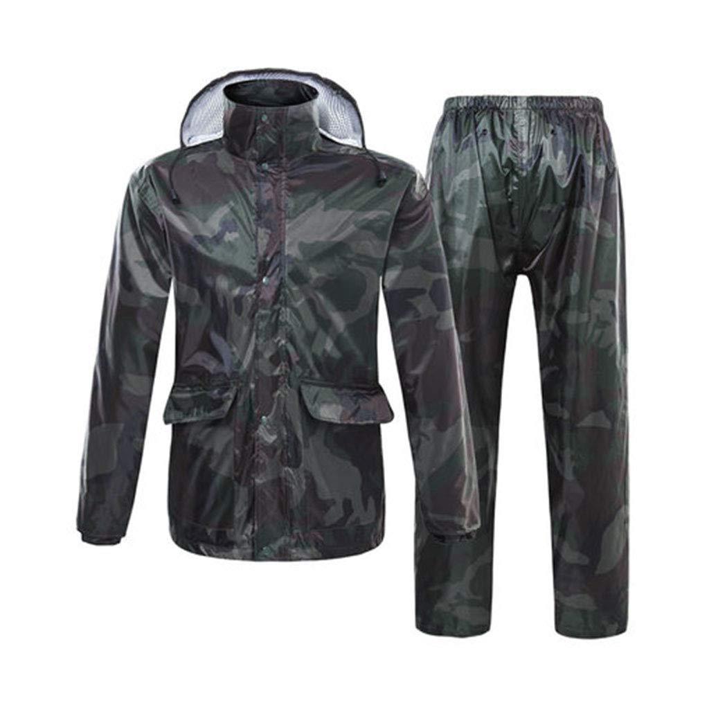 vert L XAOPN Imperméables, Tailles Variées, Imperméables Camouflage, Imperméables Fendues, Pantalons De Pluie, Costumes Anti-émeute, Imperméables