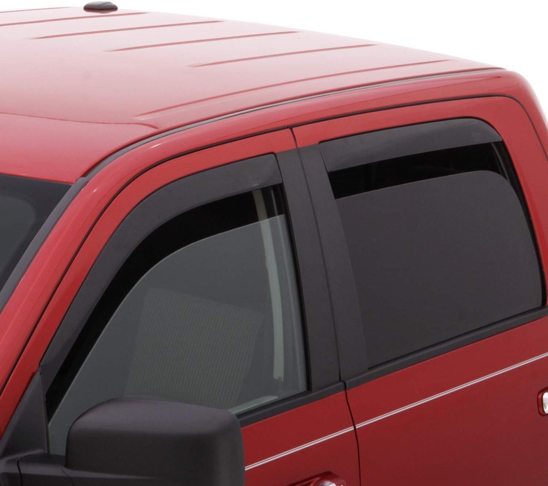 Auto Ventshade Chrome Ventvisor Side Window Deflector 4-Piece Set for/2019 Silverado 1500 Crew Cab