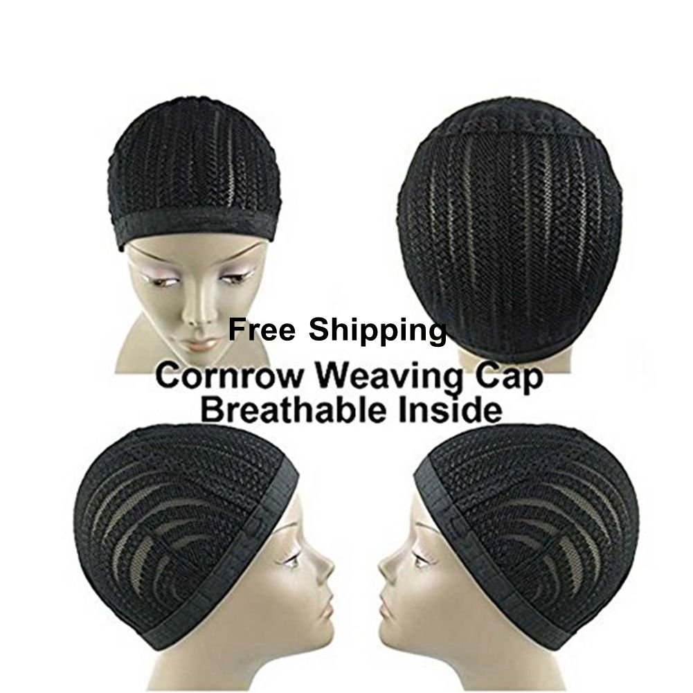 Clip in Cornrow Crochet Braided Wig Cap, Crochet Braids on a wig Cap ...