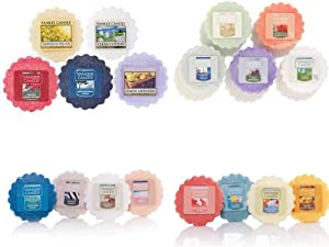 Yankee Candle Tarts Wax Melts - Spring & Summer Collection Sampler – Box of twelve (12) individually wrapped scents with no duplicates. Random assortment.