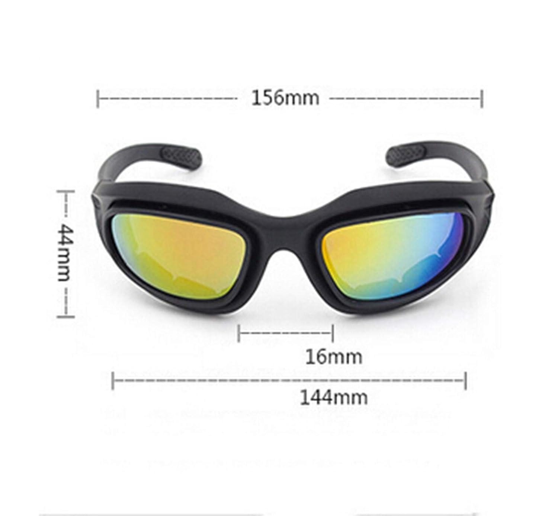 AnazoZ Gafas de Bicicleta Gafas de Ciclismo Gafas Tácticas Gafas de Moto Gafas Polarizadas Gafas Negro: Amazon.es: Ropa y accesorios