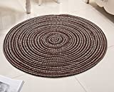 DDLANY Carpets Round, pillows, soft pad flesh computer series knitted carpets lounge night for the protection of 140 cm diameter (Color Brown, Size: diameter 60 cm)