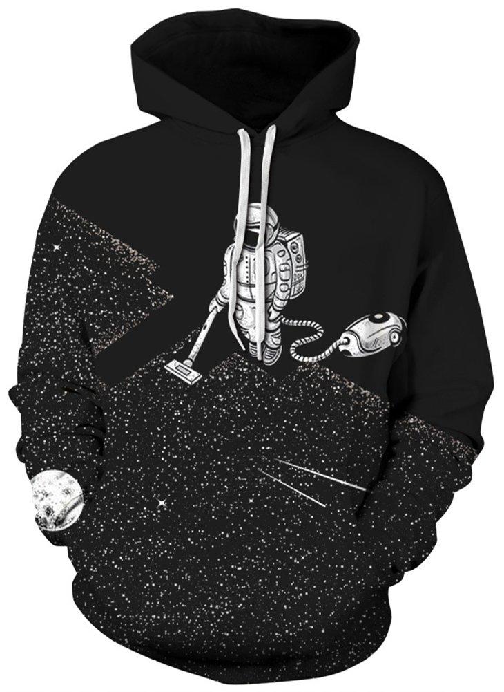 Pandolah Men's Patterns Print Athletic Sweaters Fashion Hoodies Sweatshirts (Small/Medium, Vacuum Cleaner-h)