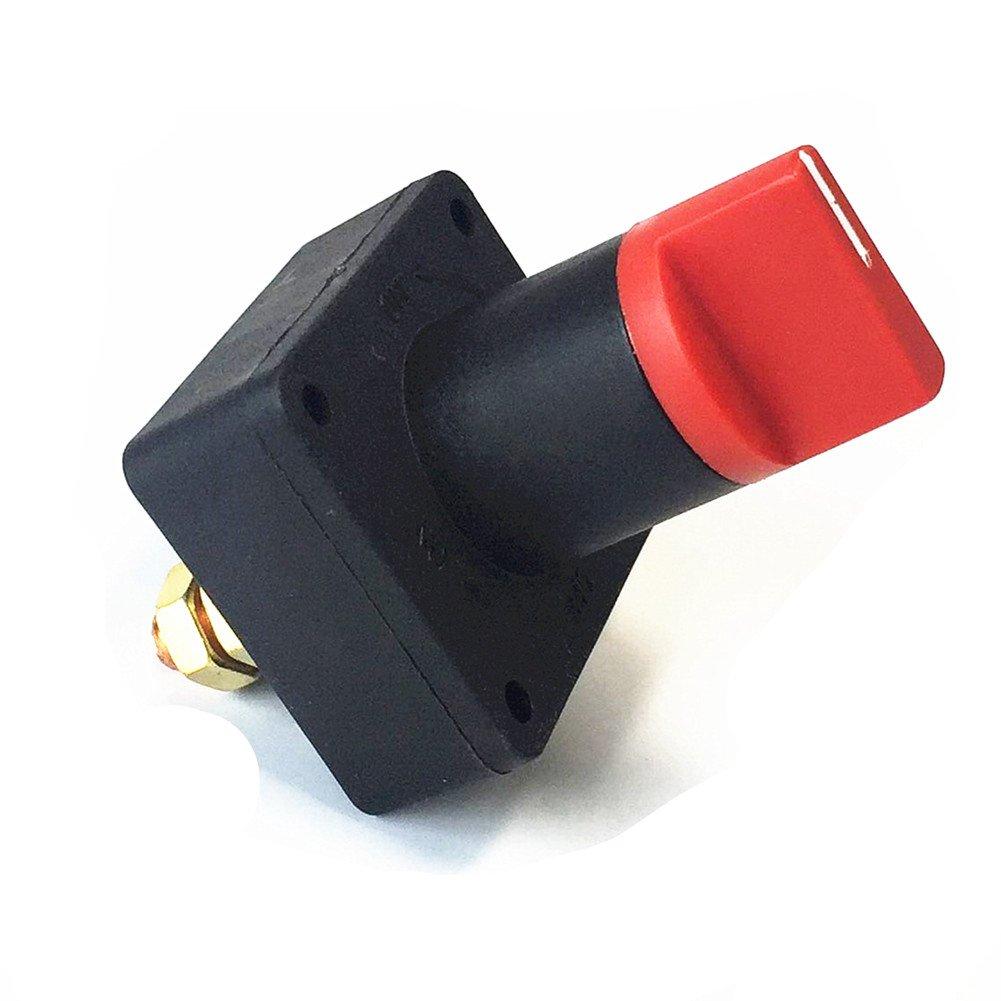 Qiorange Battery Switch Power Disconnect Switch Rotary Isolator Cut OFF Switch for Car Boat Marine Van Truck Rv ATV Caravan Type J 1pcs