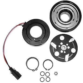 quioss AC a/c compresor Kit de reparación de embrague SD7 V16 Polea w/rodamientos placa de bobina para Audi TT VW Jetta: Amazon.es: Coche y moto