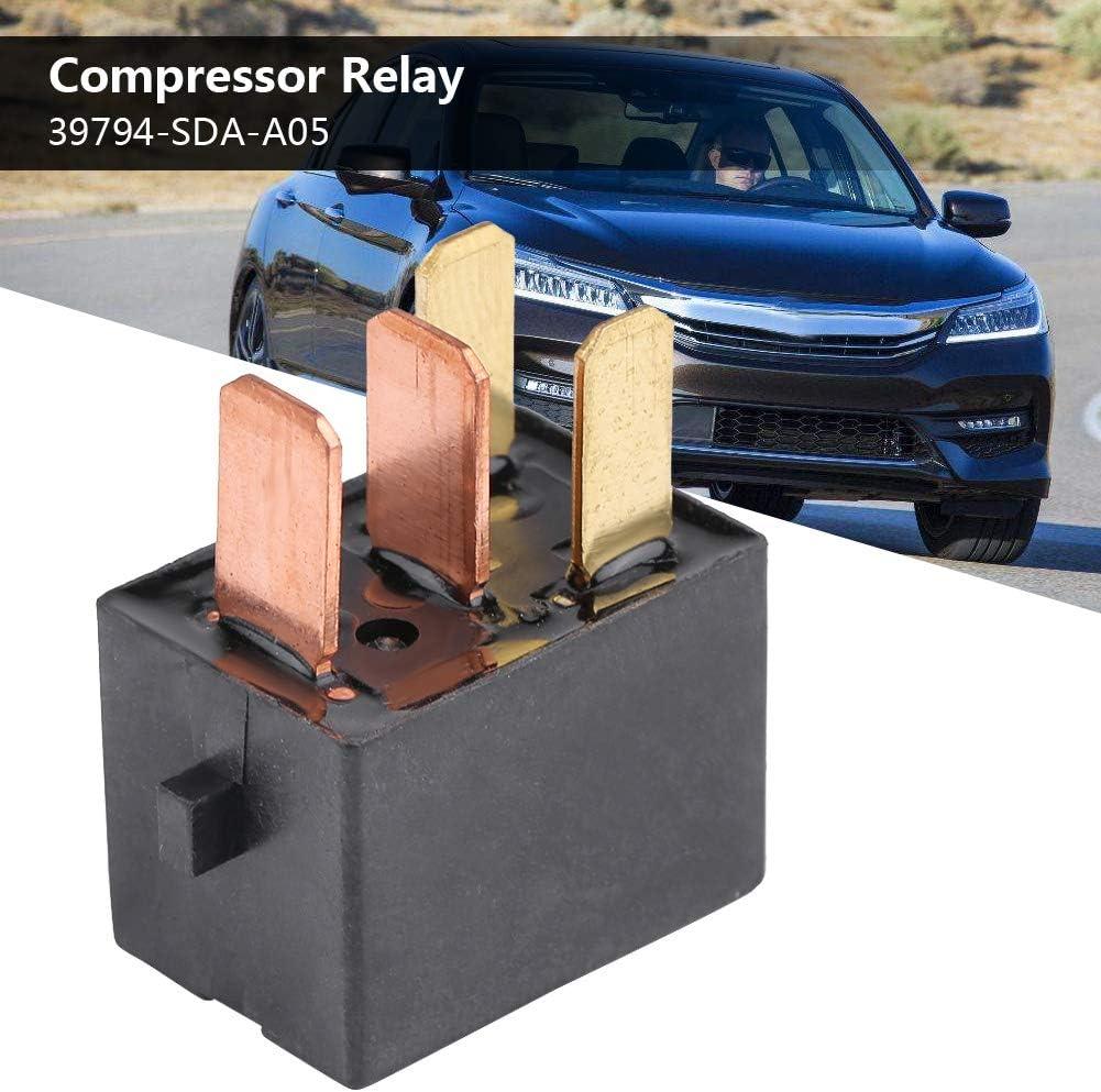 Fydun Kfz Kompressor Relais Sicherungs Leistungsrelais Wasserdichtes Zubeh/ör f/ür 39794-SDA-A05 Schwarzes Auto Relais