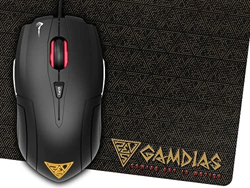 GAMDIAS Hades GMS7001 Optical FPS Gaming Mouse 3 Set Ambidextrous  Adjustable Side Panels 7 Programmable Buttons, Omron Micro Switches