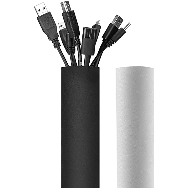 Cable Management Sleeve Hikig Cord Organizer System,Wire Cover,Cable Wrap,4Pack