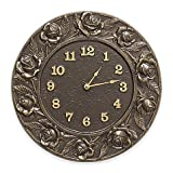 Whitehall Products Rose Clock in French Bronze