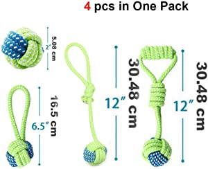 VictoriaHassan Dog Toys - Interactive Dog Toys for Large Small Dogs Big Dog Toy Ball, for Dogs Rope Pet Dog Toys, Rope Balls Small Strong Dog Toys ty0113 - by 1 PCs