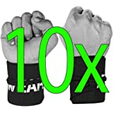 Wrist Wraps by WOD Wear - Strength Wraps for Powerlifting, Bodybuilding, Cross Training, Olympic Weightlifting, Yoga Wrist Supports for Training - One Size Fits All - 100% Guarantee