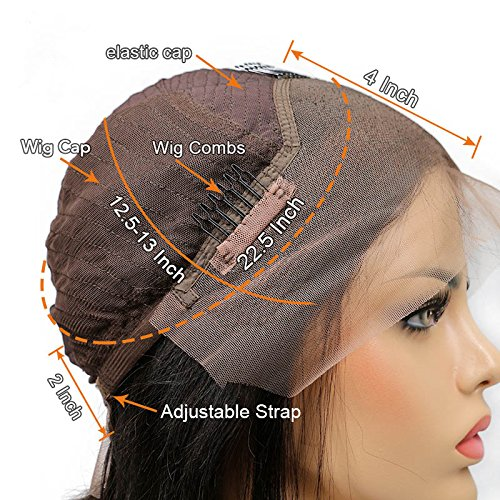 Amazon.com : Fabeauty Hair Lace Front Wigs For Women Straight Brazilian Virgin Human Hair Short Bob Wigs Bleached Knots Glueless Lace Wigs (10) : Beauty
