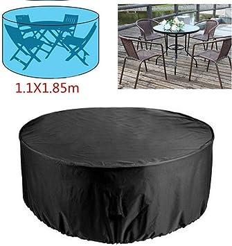 Funda para sofá de jardín redonda, protección para mesa de sofá, muebles y silla, protección impermeable y resistente al polvo: Amazon.es: Bricolaje y herramientas