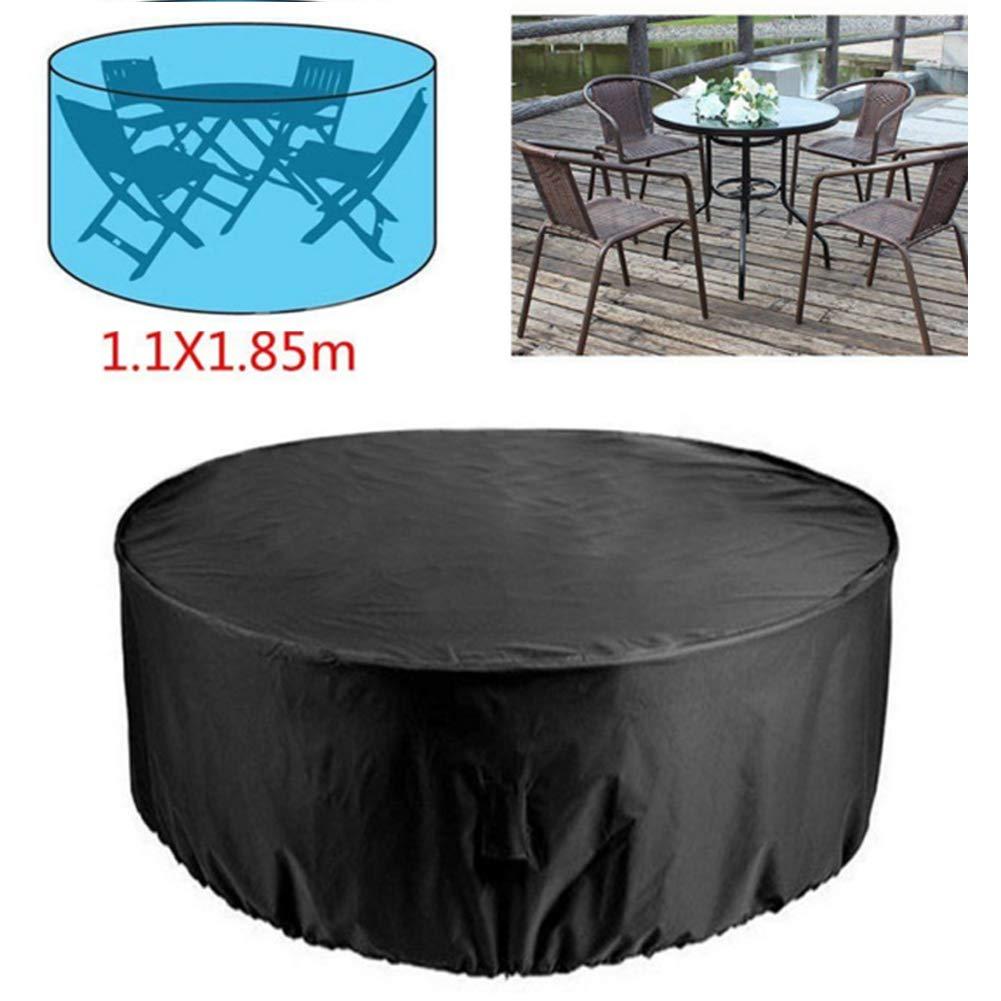Funda para sofá de jardín redonda, protección para mesa de sofá ...