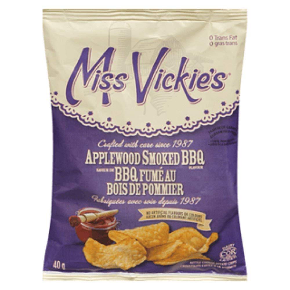 Miss Vickie's Applewood Smoked BBQ, Vending Chips (40ct x 40g/1.4oz.) (Imported from Canada)