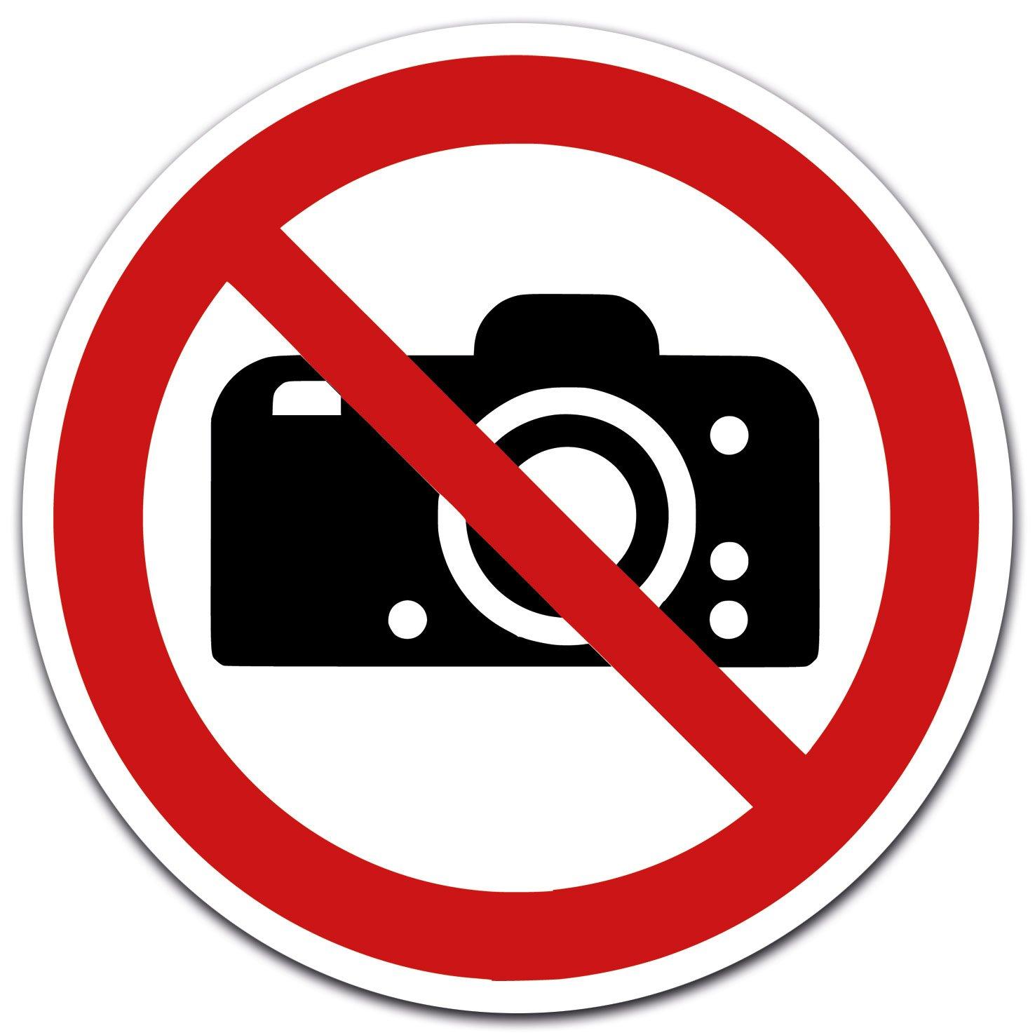 Autocollants photographier interdit, diamè tre 12 cm diamètre 12cm LabelDay