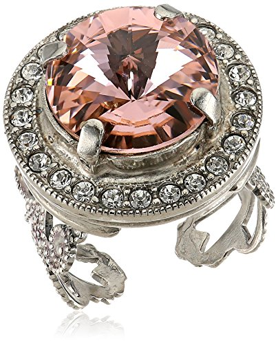 Sorrelli Crystal Rose Bold Bauble Ring, Size 7-9