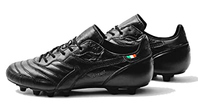 5aa110080 Diadora Brasil Football Italy OG Shoes MD PU Black Size  11  Amazon ...