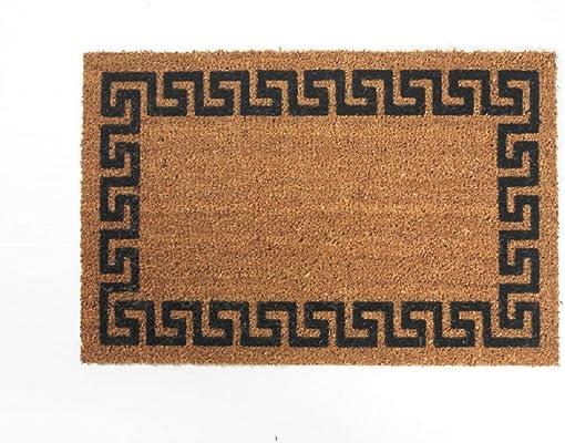 DeCoir 18 x 30 Greek Key Coir Doormat