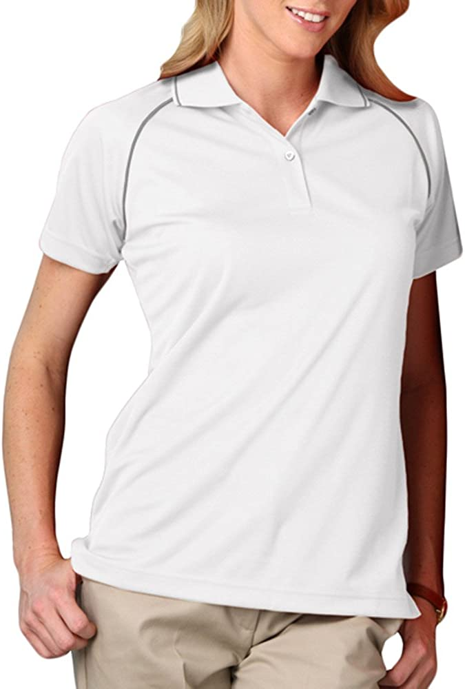 Blue Generation BG6220 Ladies Wicking Polo with Contrast Piping