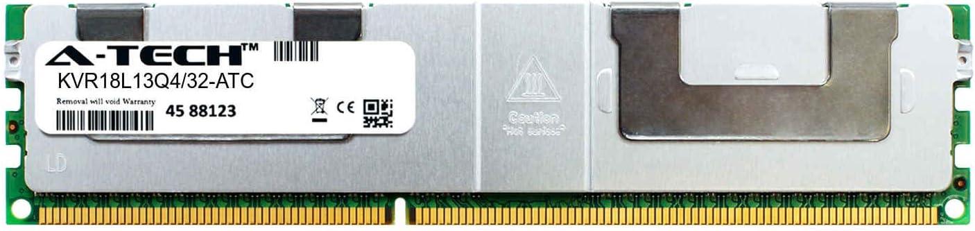 A-Tech 32GB Replacement for Kingston KVR18L13Q4//32 KVR18L13Q4//32-ATC DDR3 1866MHz PC3-14900 ECC Load Reduced LRDIMM 4rx4 1.5v Single Server Memory Ram Stick